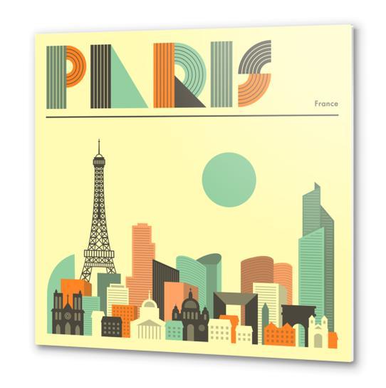 PARIS Metal prints by Jazzberry Blue