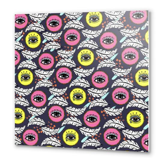 Pattern Boho eyes Metal prints by mmartabc