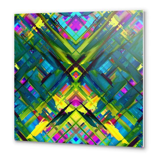 Colorful digital art splashing G467 Metal prints by MedusArt
