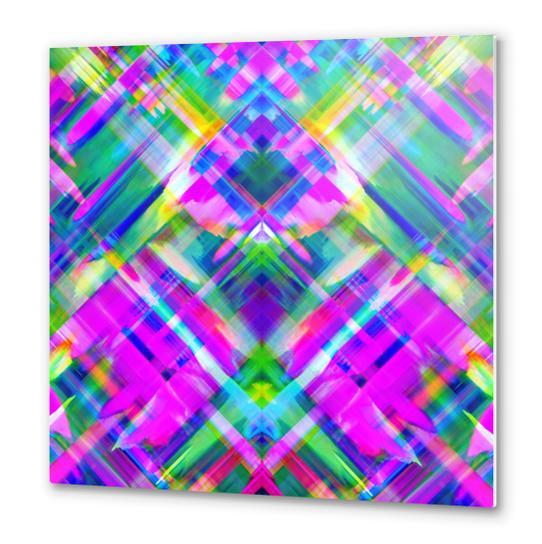 Colorful digital art splashing G469 Metal prints by MedusArt