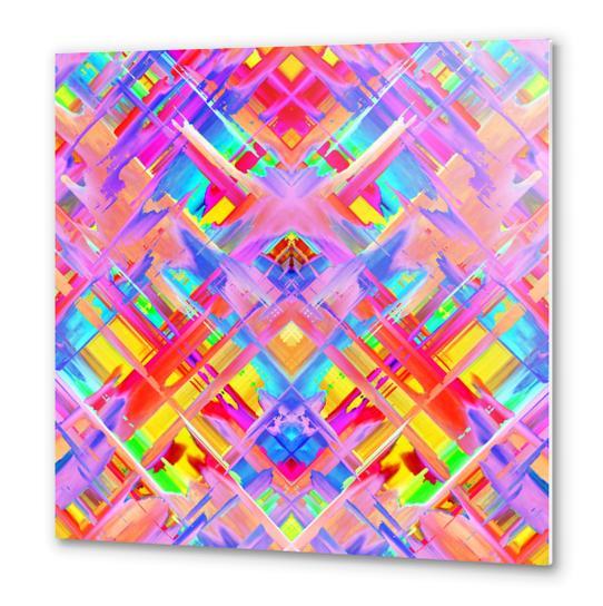 Colorful digital art splashing G470 Metal prints by MedusArt