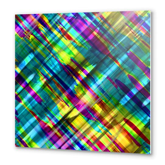Colorful digital art splashing G72 Metal prints by MedusArt