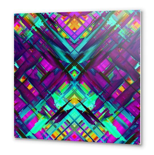 Colorful digital art splashing G472 Metal prints by MedusArt