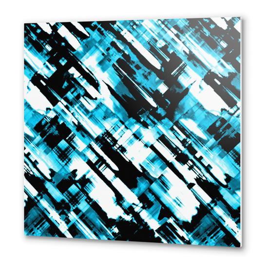 Hot blue and black digital art G253 Metal prints by MedusArt