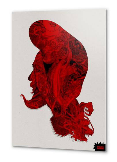 RED DRAGON Metal prints by sagi.art
