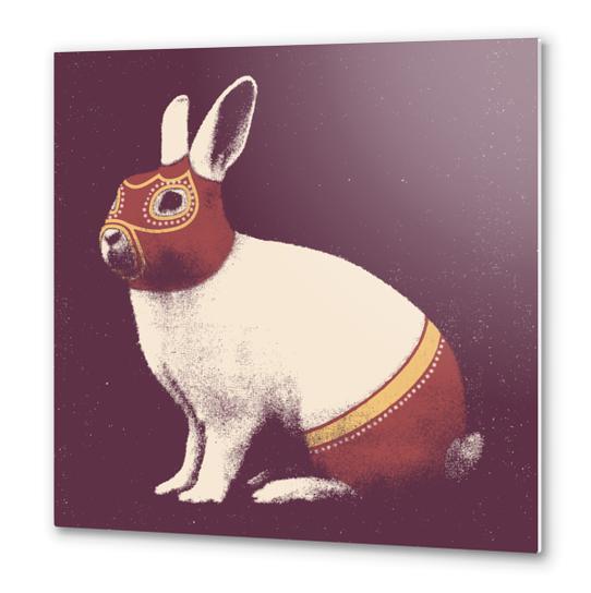 Lapin Catcheur (Rabbit Wrestler) Metal prints by Florent Bodart - Speakerine