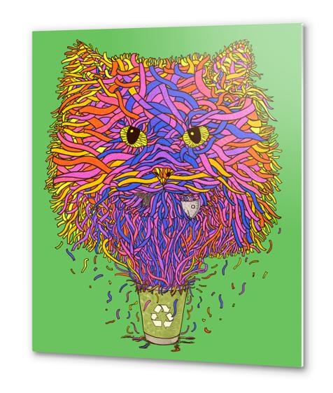 Recycle cat Metal prints by Tummeow