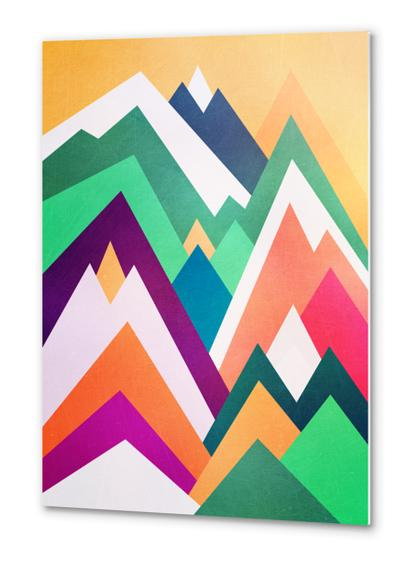 Summer peaks Metal prints by Elisabeth Fredriksson