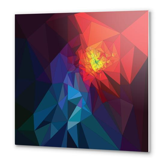Colorful Triangles Metal prints by PIEL Design