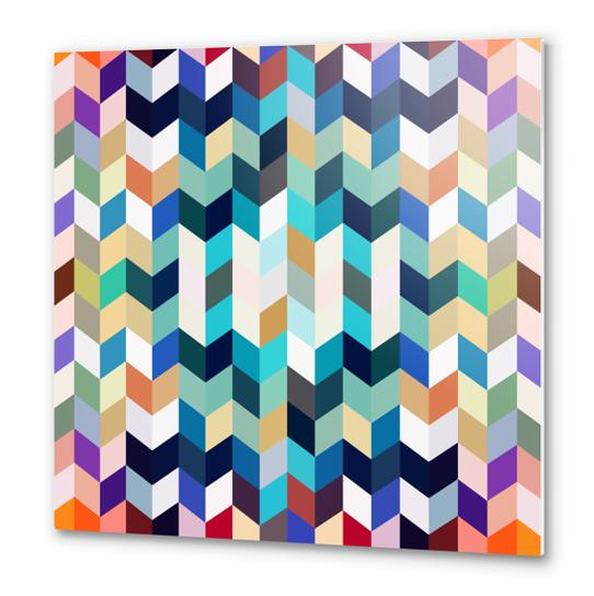 Colorful Geometric Background Metal prints by Amir Faysal