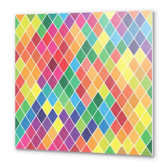 Colorful Geometric  Metal prints by Amir Faysal