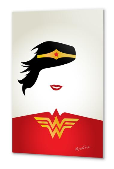 WONDER WOMAN Metal prints by Roberto Caporilli