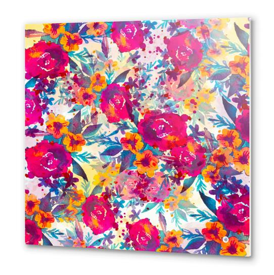 Watercolor flowers and plants I Metal prints by mmartabc