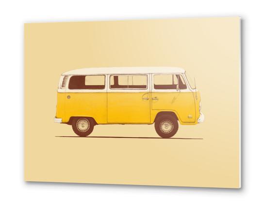Yellow Van Metal prints by Florent Bodart - Speakerine