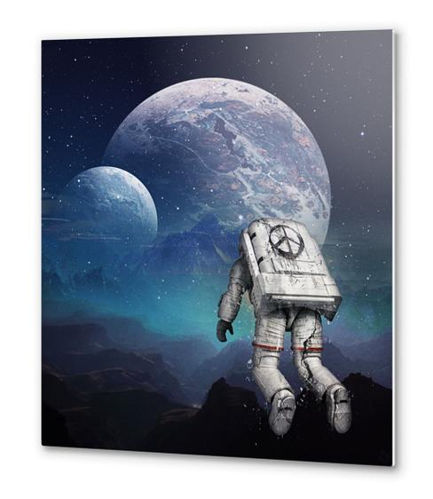 searching home Metal prints by Seamless