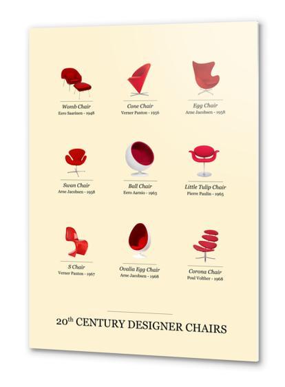 20th Designer Chairs Metal prints by Azarias