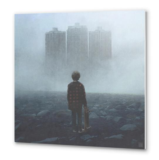 Boy and the Giants Metal prints by yurishwedoff