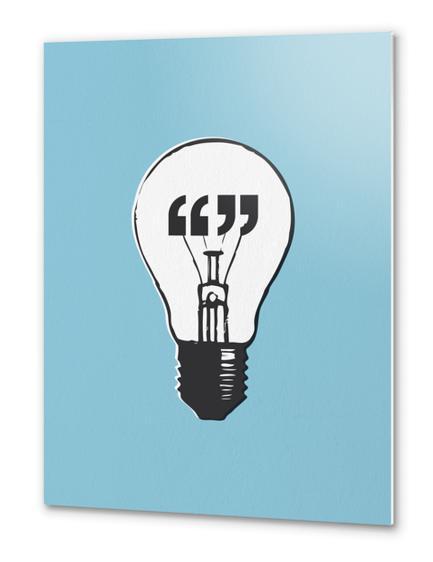 Bright Bulb Metal prints by Alex Xela