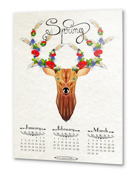deer spring Metal prints by Manoou