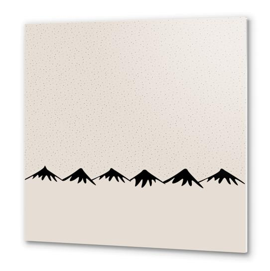 Snow and mountain by PIEL Metal prints by PIEL Design
