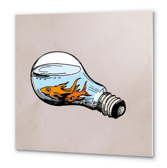 Fishes-Bulb Metal prints by Georgio Fabrello