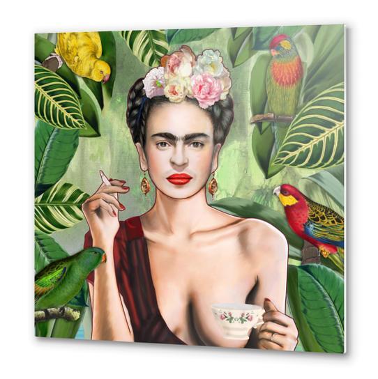 Frida con amigos Metal prints by Nettsch