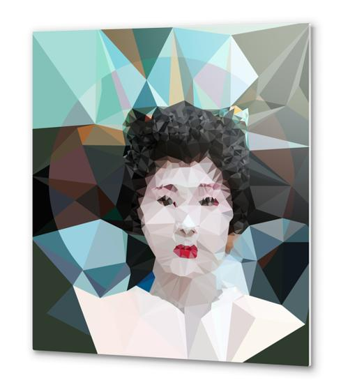 Geisha Metal prints by Vic Storia