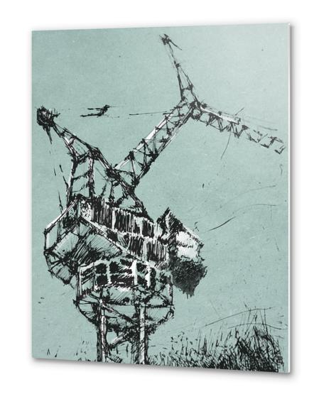 Crane Metal prints by Georgio Fabrello