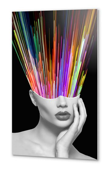 Head in the Colors Metal prints by K. Leef