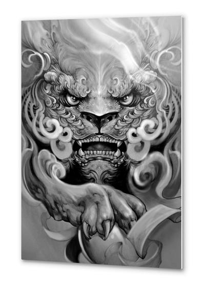 Foo dog Metal prints by Elvintattoo