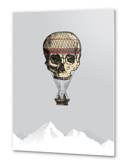 L'amour du risque Metal prints by tzigone