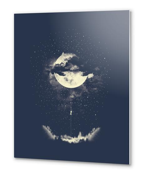 MOON CLIMBING Metal prints by Miro Zatkuliak