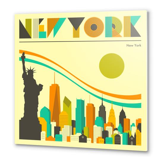 NEW YORK Metal prints by Jazzberry Blue