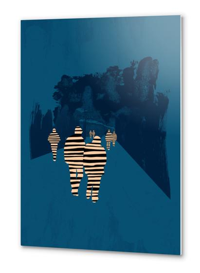 walking for oblivion Metal prints by junillu