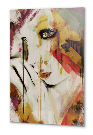 Abstract Portrait - Pages Metal prints by Galen Valle