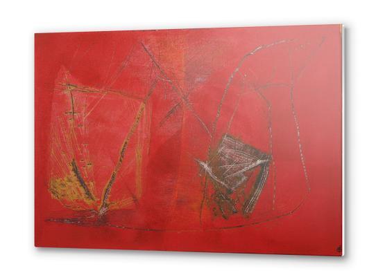Rouge griffé Metal prints by Pierre-Michael Faure