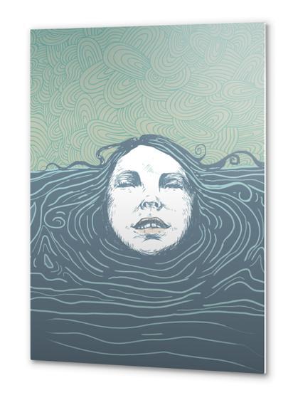 Sea-face Metal prints by tzigone