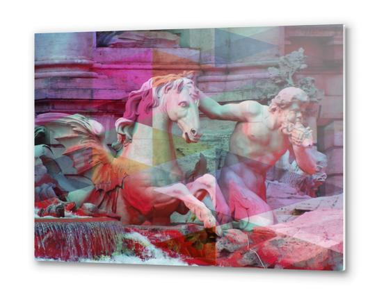 Trevi Fountain Metal prints by Vic Storia