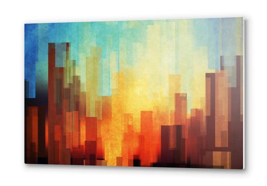 Urban Sunset Metal prints by DejaReve
