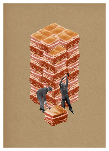 Working Class Art Print by Lerson