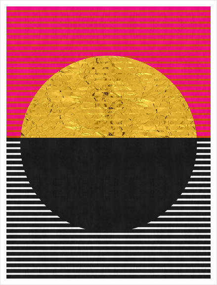 Geometric and golden art Art Print by Vitor Costa