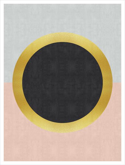 Geometric and golden art III Art Print by Vitor Costa