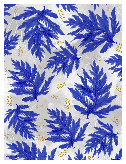 Coral Blue Art Print by mmartabc