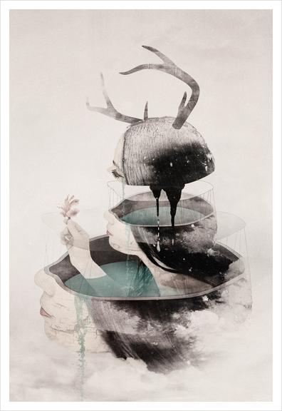 Beyond Art Print by okusora
