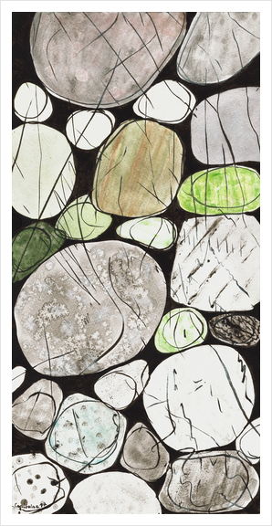 Classical Stones Pattern in High Format Art Print by Heidi Capitaine