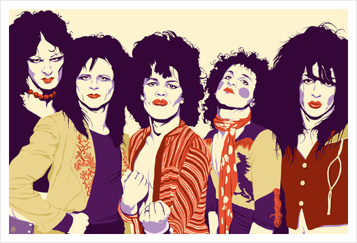 NEW YORK DOLLS Art Print by Francis le Gaucher