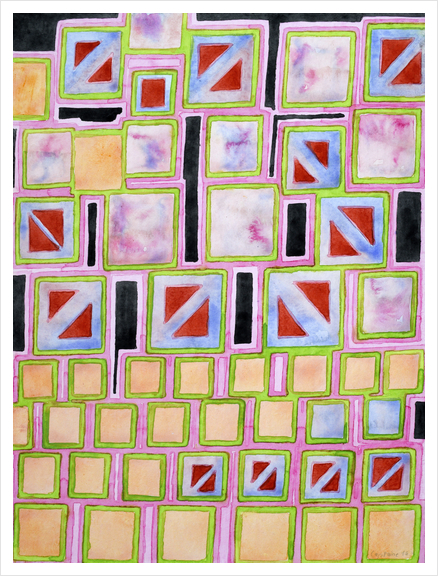 Composition out of Three Kind of Squares Art Print by Heidi Capitaine