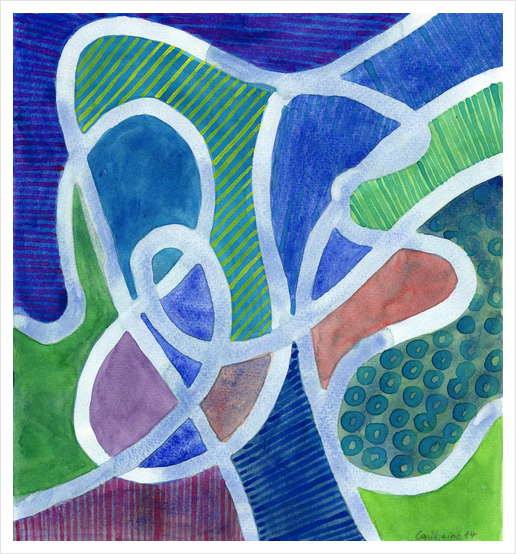 Curved Paths Art Print by Heidi Capitaine
