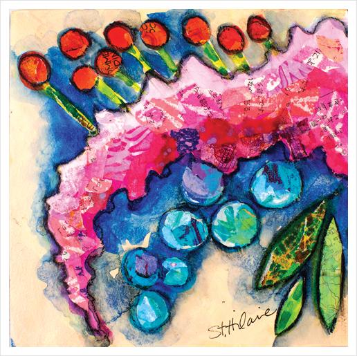 Floral Study #8 Art Print by Elizabeth St. Hilaire