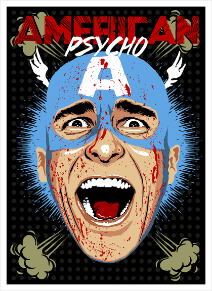 Captain Psycho Art Print by Butcher Billy
